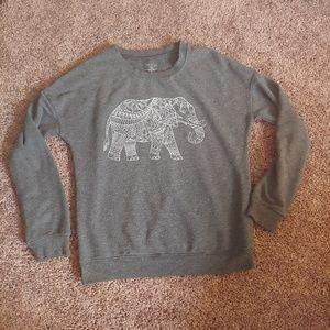 Zoe + Liv elephant gray sweatshirt